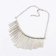 Vogue Elegant Tassel Arc-shaped Individual Necklace Silver YW15041806-1.http://www.clothing-dropship.com