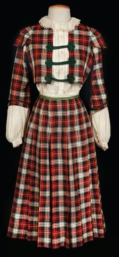 Cecil Beaton's plaid school girl costume worn by Leslie Caron in Gigi (1958)