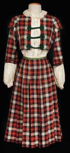 Cecil Beaton's plaid school girl costume worn by Leslie Caron in Gigi (1958)