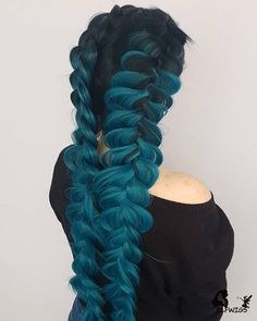 Cute Hair Colors, Pretty Hair Color, Hair Dye Colors, Box Braids Hairstyles, Cool Hairstyles, Evening Hairstyles, Hairstyles 2018, Cheveux Oranges, Curly Hair Styles