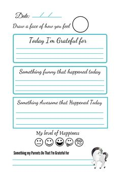 5 Minutes Journal, Drawing Journal, Elementary Counseling, Im Grateful, Self Esteem, Learn English, Gratitude, Activities For Kids, How Are You Feeling
