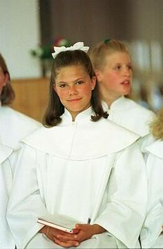 CONFIRMATION OF PRINCESS VICTORIA OF SWEDEN.