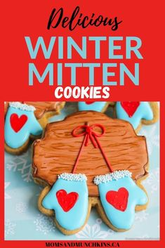 Looking for a fun dessert to make this holiday season? These Delicious Winter Mitten Cookies are just what you need! They are so cute! This step by step baking tutorial shows you everything you need to make these cookies taste as good as they look! Cookie recipe. Christmas Cookies. Delicious Winter Mitten Cookies