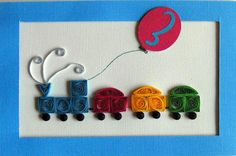 Quilled Happy Birthday card - any age, any color