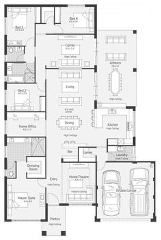 Plan modern house plans, dream house plans, house floor plans, floor plan l New House Plans, Dream House Plans, Modern House Plans, House Floor Plans, Kitchen Layout Plans, Kitchen Floor Plans, Living Room Floor Plans, Bedroom House Plans, Home Design Floor Plans