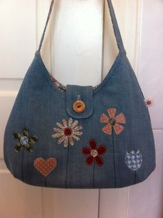 From old jeans to quilted handbag, lovely