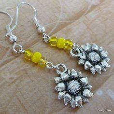 Sunflower Earrings by MangoTease