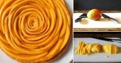 Tarta-flor de mango con leche de coco, ¡sin harina ni azúcar!