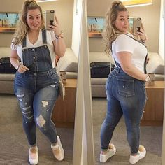 Pickyourlook Women Plus Size Overalls Denim Jumpsuit Blue Fashion Strap Lady Bodysuit Backless Large Size Female Body Rompers Source by nabitoo Jumpsuit Blue, Jumpsuit Denim, Curvy Girl Fashion, Blue Fashion, Look Fashion, Unique Fashion, Fashion Ideas, Fat Fashion, Fashion 2018