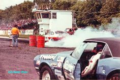 Larry in Firebird ,Jack Chan warming up the Tires