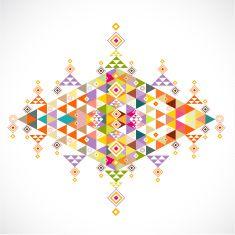 geometric pattern Thai art style template, vector illustration vector art illustration