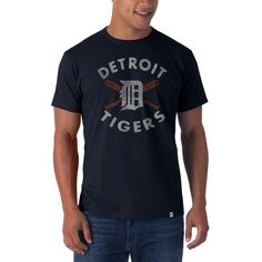 Detroit Tigers - Flanker Distressed Batter Up Logo Premium T-Shirt Team  Gear 86c0ff81e