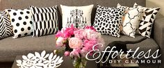 Paint-a-pillow - amazing DIY designer accent pillows and stencil kits