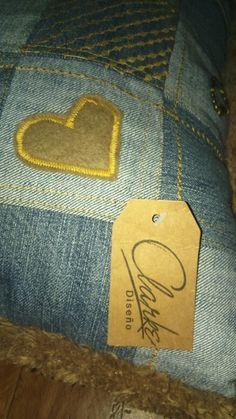 Cojin de jeans