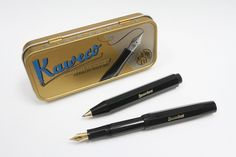 """34gbp: KAWECO CLASSIC Sport BLACK Fountain & Ballpoint Pen SET in Metal Gift Tin - £34.95. Kaweco CLASSIC Sport Pocket Fountain Pen & Ballpoint PenProduct Features: The Kaweco CLASSIC Sport pen is one of only few writing instruments which have been successful in the market for decades without any big changes. The Kaweco CLASSIC Sport closely follows an original 1935 octagonal design """"Small in the pocket, large in the hand"""". The over sized cap arrangement creates a small closed pen ..."""