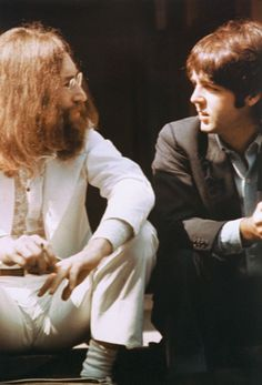 Lennon and McCartney....Late In The Game & The Tension Is Showing...Look At Their Faces...What A Shame...