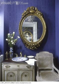 1000 images about french bathroom on pinterest french for Navy blue and gold bathroom accessories