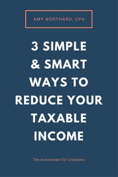 "If you have ""extra"" money at the end of the year and want to do something with it besides rack up more expenses or pay the government taxes, consider these 3 simple and smart ways to reduce your taxable income. Small Business Bookkeeping, Small Business Tax, Business Tips, Online Business, Business Accounting, Salon Business, Craft Business, Creative Business, Business Tax Deductions"