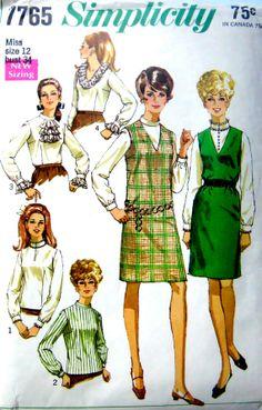 60s Jumper & Blouses Vintage Sewing Pattern by stumbleupon on Etsy, $7.50