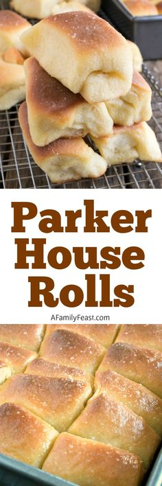 Parker House Rolls are soft, fluffy dinner rolls with a touch of sweetness and a twice-buttered top that has been sprinkled generously with sea salt.