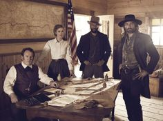 Colm Meaney, Anson Mount, Common and Dominique McElligott in Hell on Wheels