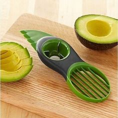 As if you needed another excuse to eat avocado. The Avocado Joy Slicer is so goo. As if you needed another excuse to eat avocado. The Avocado Joy Slicer is so good at slicing these fruit (yes, fruit!) and removing the pit that you c. Kitchen Hacks, Kitchen Tools, Kitchen Gadgets, Kitchen Stuff, Kitchen Items, Kitchen Utensils, Kitchen Products, Household Products, Cheap Kitchen