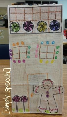simply speech: In My Speecherbread House!-fun activity works on target words. Pinned by SOS Inc. Resources. Follow all our boards at pinterest.com/sostherapy for therapy resources.