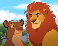 King Kion And Queen Rani by Mikaces on DeviantArt Lion King Series, Lion King Story, Lion King Fan Art, Hakuna Matata, Disney Cartoons, Disney Movies, Fun Movies, Lion Couple, Animation Classes