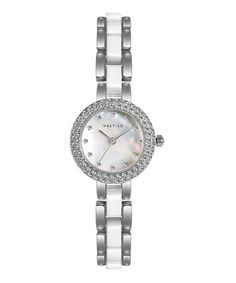 Silver & White Iridescent Flora Watch by MESTIGE on #zulily