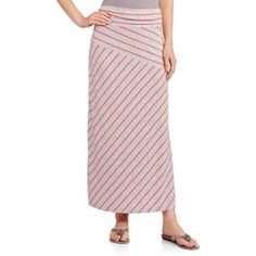 Faded Glory Women's Fashion Maxi Skirt with Shirred Waistband - Walmart.com