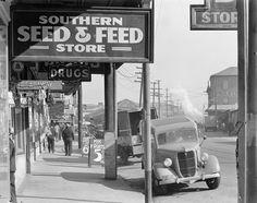 French Market sidewalk scene. New Orleans, 1935. By Walker Evans