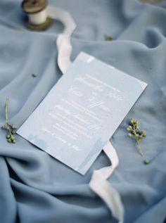 Timeless Blue Wedding Invitation