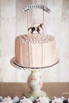 Vintage Pony Party with SO MANY CUTE Ideas via Kara's Party Ideas | KarasPartyIdeas.com #