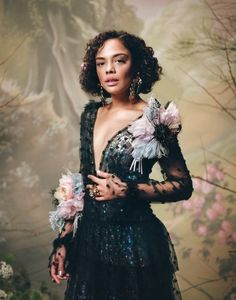 "thorodinson: ""Tessa Thompson photographed by Autumn de Wilde for Rodarte "" Tessa Thompson Westworld, Black Celebrities, Celebs, Pretty People, Beautiful People, Youtubers, Coloured Girls, Glamour, Fashion Night"