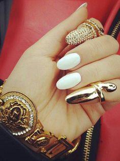 #gold#weiß#nägel