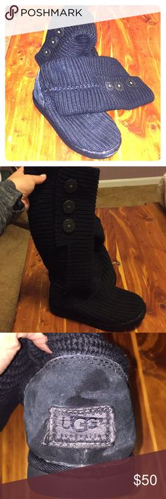 Woven Tall UGG Boots Gently Used. Tall. Women's size 8 UGG Shoes Winter & Rain Boots