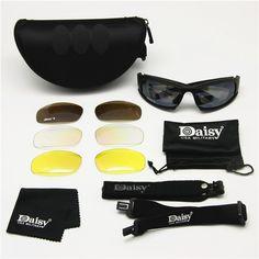 0774e1632 R$ 48.73 25% de desconto Transição Photochromic Polarizados Margarida X7  Lente óculos de Sol Óculos de Proteção Militares Do Exército 4 Kit Jogo de  Guerra ...