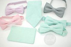 linen pastel wedding sets,light pale tie,pocket square,bow tie,light soft color,pale tone, groomsmen,men,pastel pan tone wedding theme party