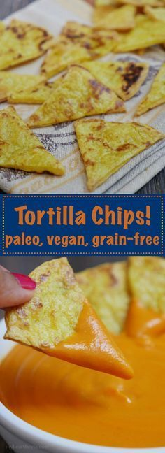 "Paleo Tortilla Chips by <a href=""http://MyHeartBeets.com"" rel=""nofollow"" target=""_blank"">MyHeartBeets.com</a>"