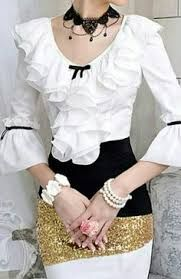 a610401fc19 Resultado de imagem para camisa preta e dourada com renda celestine Roupas  Chique