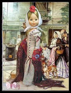 Doll Clothes, Folk, Spain Madrid, Princess Zelda, Costumes, Antiques, Indiana, Virginia, Painting