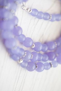 Long Lilac Jade Necklace