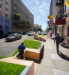 Parklet in San Francisco, California, designed by Ogrydziak Prillinger Architects