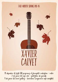 Gigposter for Xavier Calvet