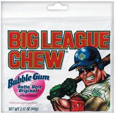 Big League Chew, Outta' Here Original Bubble Gum, 2.12-Ounce Pouches (Pack of 12) The Ball Player's Bubble Gum Target consumer:  Boys 6-12 with an active interest in baseball