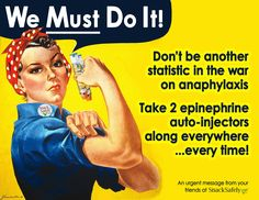 Don't be another statistic in the war on anaphylaxis! Team up with Rosie and click for a set of printable 'Take 2' Campaign flyers!
