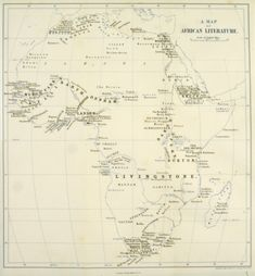 """This 1873 map of Africa -- showing what Joseph Conrad thought of as """"empty"""" spaces for exploration -- is part of an extensive pictorial website that illuminates Conrad's novella, """"Heart of Darkness."""" Definitely worth checking out!"""
