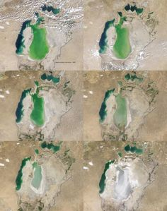 Evolution of Aral sea from 2000 to 2009.... Wake up call ?