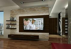 wall panels stone look living room furnishings living room wall decoration TV wall .:separator:wall panels stone look living room furnishings living room wall decoration TV wall . Living Room Wall Designs, Living Room Tv, Home And Living, Stone Wall Living Room, Modern Living, Living Area, Tv Wall Design, Design Case, House Design