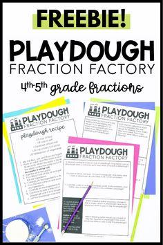 Playdough Fraction Factory — Mix and Math Grade 6 Math, Fourth Grade Math, Third Grade, 5th Grade Grammar, Sixth Grade Reading, 5th Grade Writing, Sixth Grade Math, Grade 3, Math Fractions